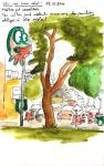 Un arbre et des bagnoles